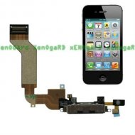 Black Charging Port Dock Connector Flex Cable Replacement Parts for iPhone 4S