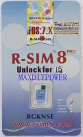 Genunie R-SIM R-SIM8 PRO Unlock card for Iphone 5 3G GSM/WCDMA iOS7.x Silver tray