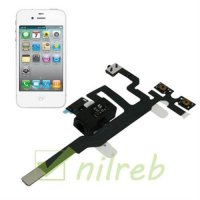 New iPhone 4S Ear Speaker Earpiece Audio Jack Volume Power Switch Flex Cable Black